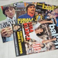 Coleccionismo deportivo: LOTE DE 4 REVISTAS DON BALÓN - AÑOS 70 - Nº 132, 133, 134 Y 135 - GRADESA - HAZ OFERTA - ENVÍO 24H. Lote 142240218