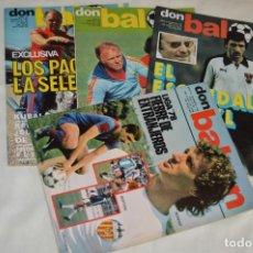 Coleccionismo deportivo: LOTE DE 4 REVISTAS DON BALÓN - AÑOS 70 - Nº 136, 137, 143 Y 144 - GRADESA - HAZ OFERTA - ENVÍO 24H. Lote 142240406