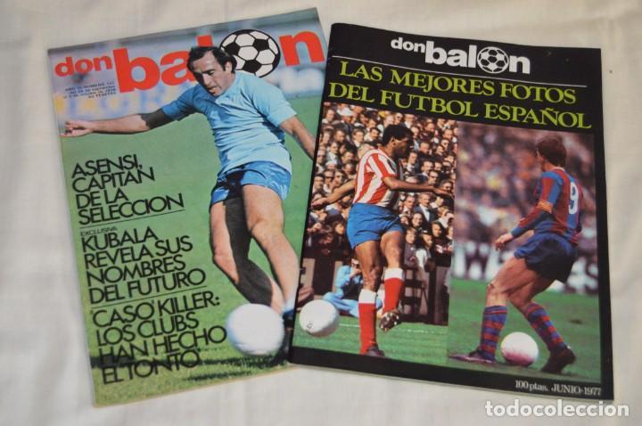 LOTE DE 2 REVISTAS DON BALÓN - AÑOS 70 - EXTRA JUNIO 77 Y Nº 155 - GRADESA - HAZ OFERTA - ENVÍO 24H (Coleccionismo Deportivo - Revistas y Periódicos - Don Balón)