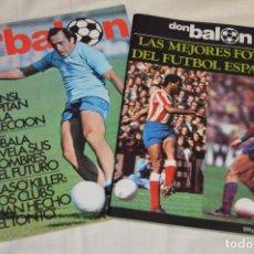 Coleccionismo deportivo: LOTE DE 2 REVISTAS DON BALÓN - AÑOS 70 - EXTRA JUNIO 77 Y Nº 155 - GRADESA - HAZ OFERTA - ENVÍO 24H. Lote 142240558