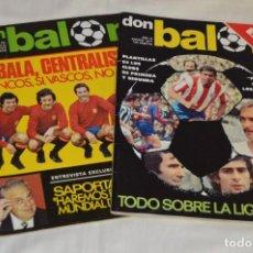 Coleccionismo deportivo: LOTE DE 2 REVISTAS DON BALÓN - AÑOS 70 - EXTRA AGOSTO 77 Y Nº 156 - GRADESA - HAZ OFERTA - ENVÍO 24H. Lote 142240654
