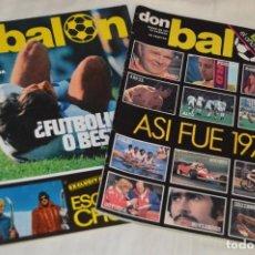 Coleccionismo deportivo: LOTE DE 2 REVISTAS DON BALÓN - AÑOS 70 - EXTRA ENERO 77 Y Nº 117 - GRADESA - HAZ OFERTA - ENVÍO 24H. Lote 142240754