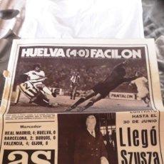 Coleccionismo deportivo: AS DIARIO GRÁFICO DEPORTIVO – AÑO XII – Nº 3.384 – MADRID, 29 DE OCTUBRE DE 1978. Lote 142272658