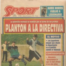 Coleccionismo deportivo: SPORT. Nº 4652. SÁBADO, 24 OCTUBRE 1992. (B/59). Lote 142433086