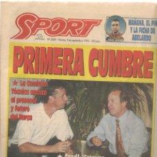Coleccionismo deportivo: SPORT. Nº 5330. VIERNES, 9 SEPTIEMBRE 1994. (B/59). Lote 142433642