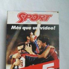 Coleccionismo deportivo: SPORT MÉS QUE UN VIDEO DEL 0-5 AL 5-0 VHS BARÇA. Lote 142464614