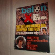 Collectionnisme sportif: DON BALON Nº 18,GRAVE ACUSACION HAY INTERMEDIARIOS QUE COMPRAN ARBITROS , 1976. Lote 142521858