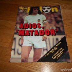 Coleccionismo deportivo: DON BALON 284 23 MARZO 1981 ADIOS MATADOR KEMPES VALENCIA CASTRO BARCELONA ATLETICO MADRID. Lote 142657002