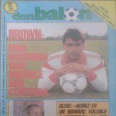Coleccionismo deportivo: REVISTA N°580 DON BALÓN 1986. Lote 142761102