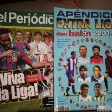 Coleccionismo deportivo: DON BALON APÉNDICES EXTRA LIGA. LOTE DE 5. 2000 AL 2002. Lote 143017150