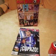 Coleccionismo deportivo: DON BALON. LOTE COPA REY 2002. CENTENARIO Y SUPERCOPAZO.. Lote 143017922