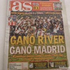 Coleccionismo deportivo: AS(10-12-18)MADRID-!!!! FINAL COPA LIBERTADORES RIVER PLATE 3 BOCA JUNIORS 1 !!! QUINTERO HEROE.. Lote 143128294