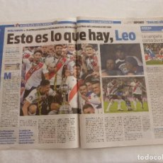 Coleccionismo deportivo: SPORT(10-12-18)MADRID-!!!! FINAL COPA LIBERTADORES RIVER PLATE 3 BOCA JUNIORS 1 !!! QUINTERO HEROE.. Lote 143128666
