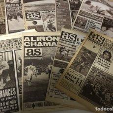 Coleccionismo deportivo: LOTE DE PERIÓDICOS DEPORTIVOS AS AÑOS 60. Lote 143147720