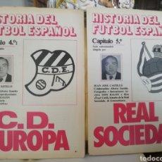 Coleccionismo deportivo: DON BALON. HISTORIA FÚTBOL ESPAÑOL. C D EUROPA. Lote 143279196