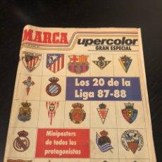 Coleccionismo deportivo: MARCA SUPERCOLOR LOS 20 DE LA LIGA 87-88. Lote 143334082