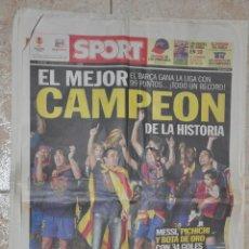 Coleccionismo deportivo: PERIODICO SPORT F.C. BARCELONA CAMPEON LIGA 2010. Lote 143577302
