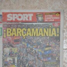 Coleccionismo deportivo: PERIODICO SPORT F.C. BARCELONA 2013. Lote 143577430