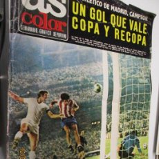 Coleccionismo deportivo: AS COLOR Nº 60 - 11/07/1972-AT. MADRID CAMPEÓN COPA-PÓSTER GIMNÁSTICO DE TARRAGONA. Lote 177292825