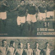Coleccionismo deportivo: 3101. MARCA 18 ENERO 1944. OVIEDO 2 - AT. AVIACION 1 /SEVILLA 1 REAL MADRID 1.... Lote 143921038