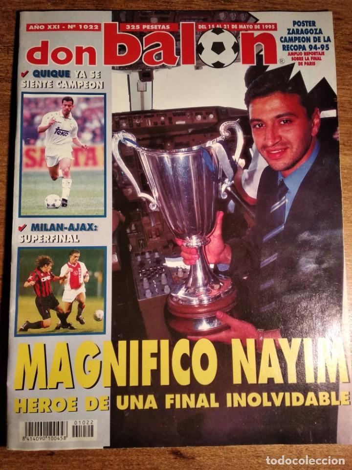REVISTA DON BALON .N°1022 AÑO XXI 1995. INCLUYE POSTER REAL ZARAGOZA (Coleccionismo Deportivo - Revistas y Periódicos - Don Balón)