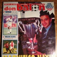 Coleccionismo deportivo: REVISTA DON BALON .N°1022 AÑO XXI 1995. INCLUYE POSTER REAL ZARAGOZA. Lote 144276118