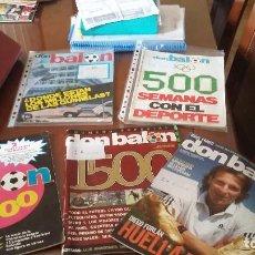 Coleccionismo deportivo: OCASION -REVISTA DON BALON LOTE NUMEROS HISTORICOS (1- 500- 1000- 1870 ). Lote 144278290
