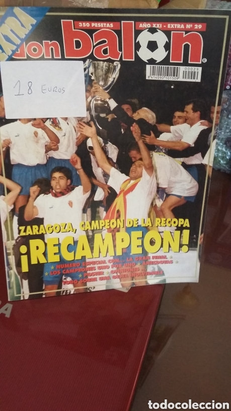 DON BALON EXTRA REAL ZARAGOZA 1995 CAMPEÓN RECOPA (Coleccionismo Deportivo - Revistas y Periódicos - Don Balón)