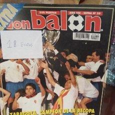 Coleccionismo deportivo: DON BALON EXTRA REAL ZARAGOZA 1995 CAMPEÓN RECOPA. Lote 144341345