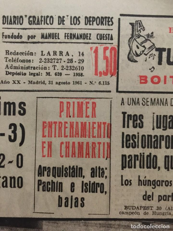 Coleccionismo deportivo: MARCA 31-8-1961 HOMENAJE A KUBALA BARCELONA, 4 - STADE REIMS, 3 - Foto 2 - 144556278