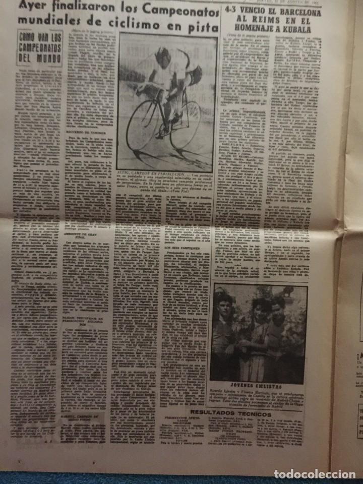 Coleccionismo deportivo: MARCA 31-8-1961 HOMENAJE A KUBALA BARCELONA, 4 - STADE REIMS, 3 - Foto 3 - 144556278
