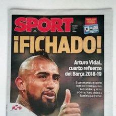 Coleccionismo deportivo: SPORT: FICHAJE DE ARTURO VIDAL. Lote 145564802