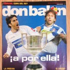 Coleccionismo deportivo: DB REVISTA DON BALON ESPECIAL PREVIA FINAL COPA DEL REY 2005 2006 REAL ZARAGOZA RCD ESPANYOL. Lote 145932850
