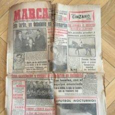 Coleccionismo deportivo: MARCA (2-11-1955) REAL MADRID CULTURAL LEONESA ATLETICO MADRID VALLADOLID INAUGURACION GETAFE VESPA. Lote 146151010