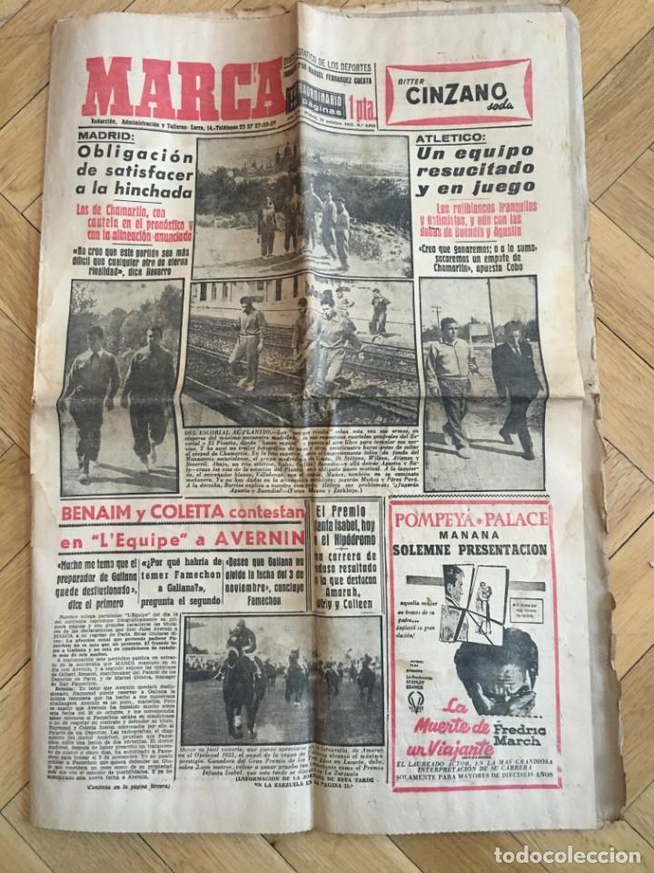 MARCA (16-10-1955) REAL MADRID ATLETICO MADRID BARACALDO ZARAGOZA (Coleccionismo Deportivo - Revistas y Periódicos - Marca)