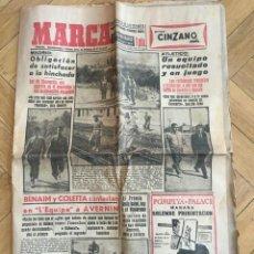 Coleccionismo deportivo: MARCA (16-10-1955) REAL MADRID ATLETICO MADRID BARACALDO ZARAGOZA . Lote 146151230