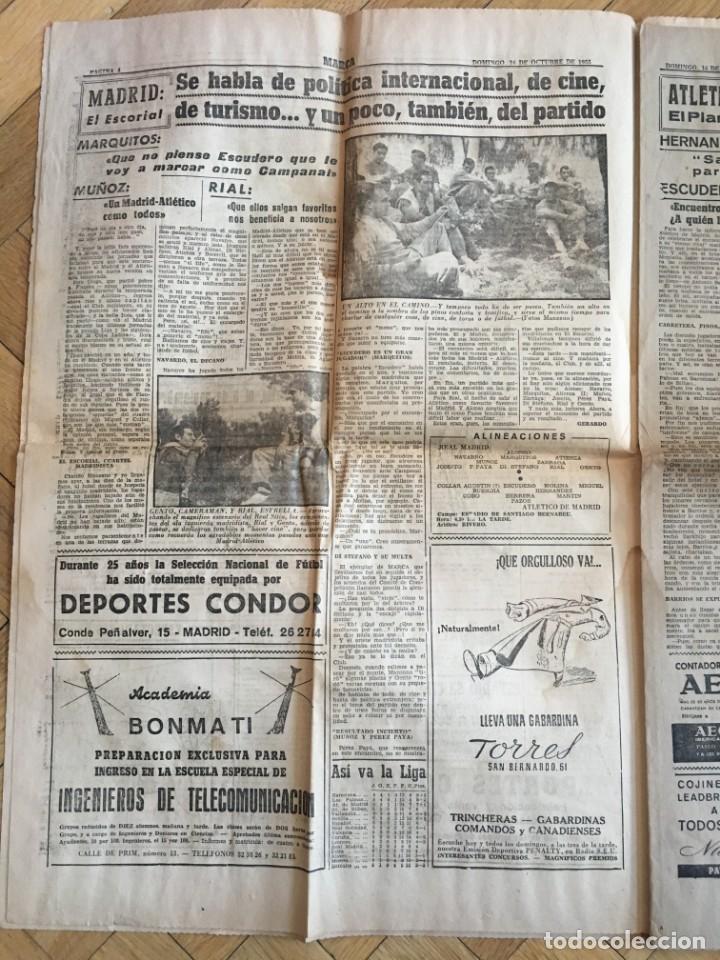 Coleccionismo deportivo: MARCA (16-10-1955) REAL MADRID ATLETICO MADRID BARACALDO ZARAGOZA - Foto 3 - 146151230