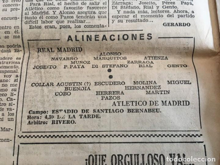 Coleccionismo deportivo: MARCA (16-10-1955) REAL MADRID ATLETICO MADRID BARACALDO ZARAGOZA - Foto 4 - 146151230