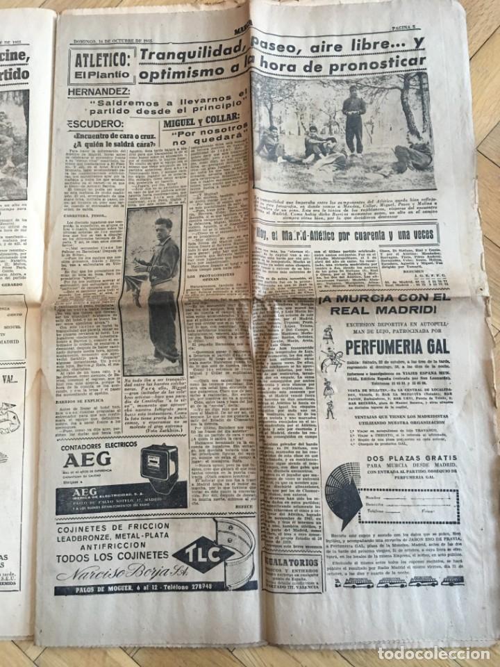 Coleccionismo deportivo: MARCA (16-10-1955) REAL MADRID ATLETICO MADRID BARACALDO ZARAGOZA - Foto 5 - 146151230
