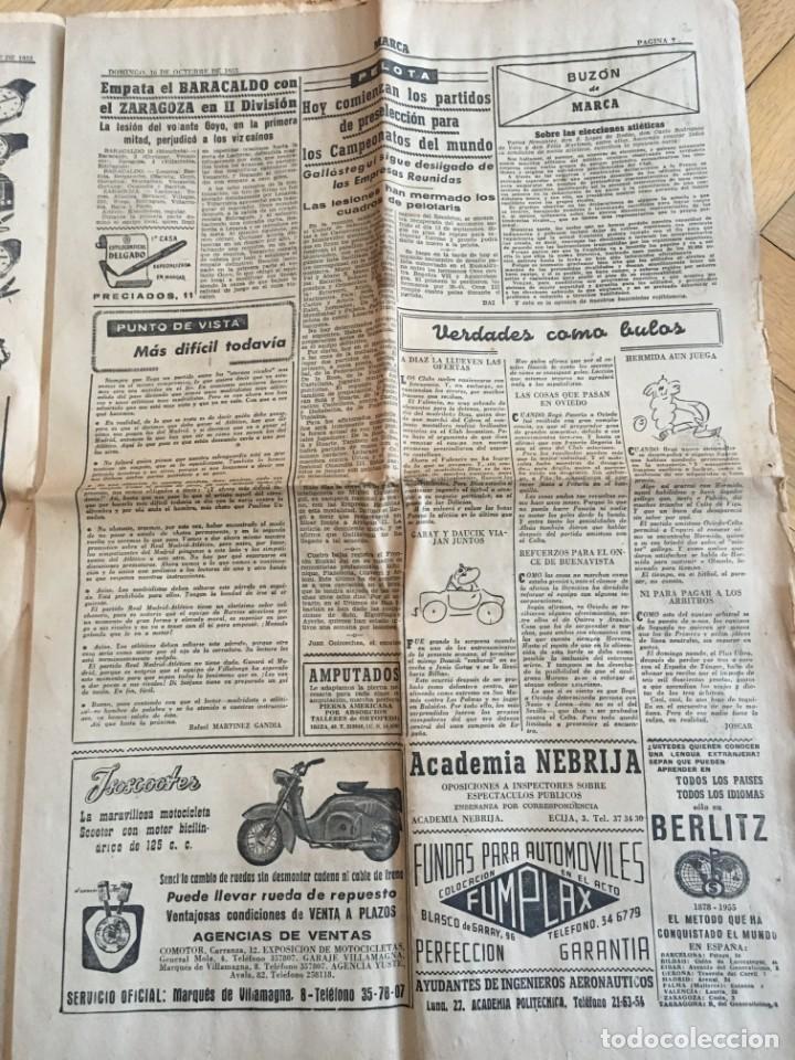 Coleccionismo deportivo: MARCA (16-10-1955) REAL MADRID ATLETICO MADRID BARACALDO ZARAGOZA - Foto 6 - 146151230
