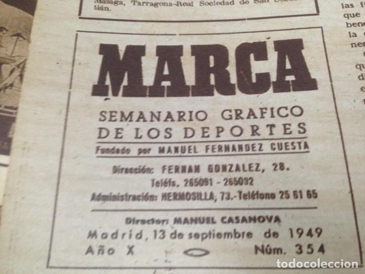 Coleccionismo deportivo: ANTIGUO TOMO PERIODICO DEPORTIVO SEMANARIO MARCA DESDE JUNIO 1949 HASTA AGOSTO 1950 - Foto 6 - 86574488