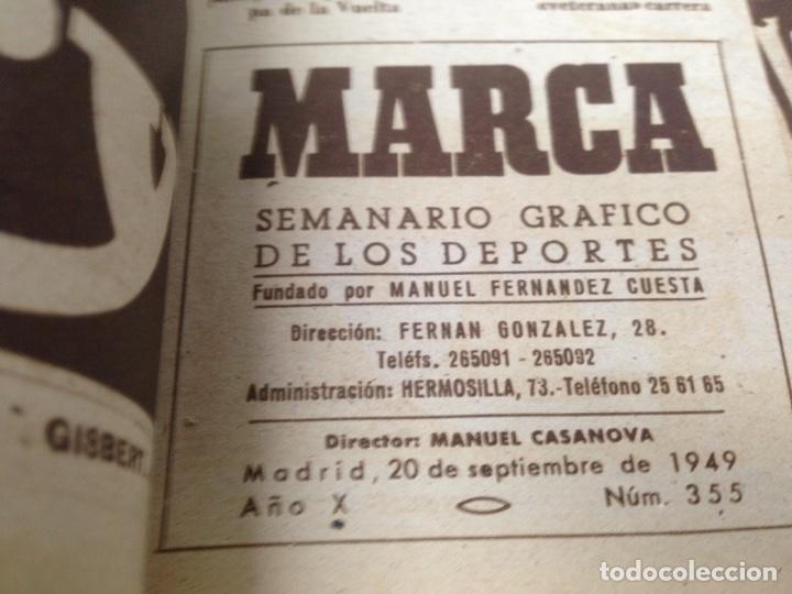 Coleccionismo deportivo: ANTIGUO TOMO PERIODICO DEPORTIVO SEMANARIO MARCA DESDE JUNIO 1949 HASTA AGOSTO 1950 - Foto 7 - 86574488