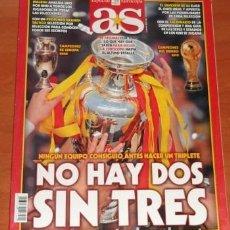Coleccionismo deportivo: AS ESPECIAL EUROCOPA, DE 2012, NO HAY DOS SIN TRES. Lote 146421070