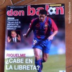 Coleccionismo deportivo: REVISTA DON BALON N,1411,DE 2002 NO TIENE POSTER. Lote 146651318