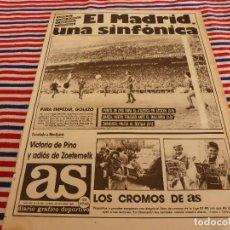 Coleccionismo deportivo: AS(26-10-87)R.MADRID 4 VALENCIA 0,CITROEN AX 5 PUERTAS,LOS CROMOS DE AS,SOUSONOVA Y SILIVAS.. Lote 147045670