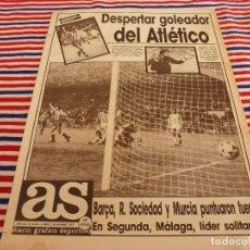 Coleccionismo deportivo: AS(2-11-87)AT.MADRID 3 VALLADOLID 0,FIAT DUCATO,PROXIMO OPORTO-R.MADRID. Lote 147048350