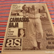 Coleccionismo deportivo: AS(16-11-87)QUINI HERIDO DE UN DISPARO,MIGUEL MUÑOZ,JESUS GIL,BUTRAGUEÑO.. Lote 147049490