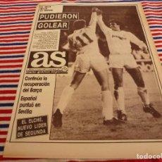 Coleccionismo deportivo: AS(30-11-87)R.MADRID 3 MALLORCA 1,RENAULT 11,RAYO 3 FIGUERAS 1,MATIAS PRATS,LUIS DE CARLOS. Lote 147049878