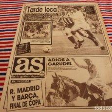Coleccionismo deportivo: AS(21-12-87)AT.MADRID 0 SEVILLA 1.CARUDEL SE RETIRA,PIRELLI FIBRA DE CAMPEONES!!!. Lote 147054290