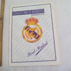 Coleccionismo deportivo: CATALOGO PARA EL MADRIDISTA TEMPORADA 93-94. ARTICULOS DEL REAL MADRID, FUTBOL. 18 PAG. Lote 147077790